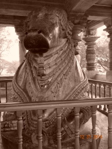 Second largest Nandi statue