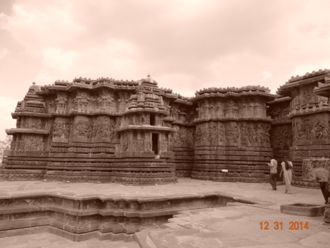 The outer view of the temple