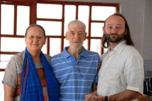 Fr. Vincent Ferrer with Anne Ferrer (Wife) and Mancho Ferrer (Son).